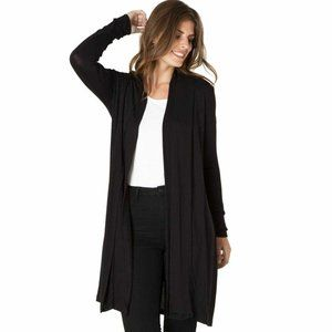 Yest Yessica Long Cardigan Sweater Black Size 16